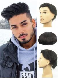 """Echthaar Haarteile Für Männer With 10"""" X 8"""""""