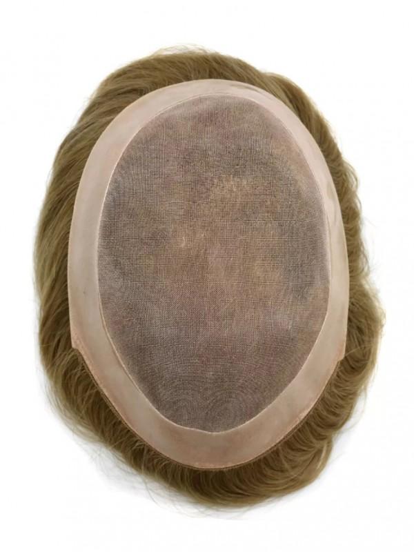 Dünne Haut Toupet Für Männer Echthaar Haarteile