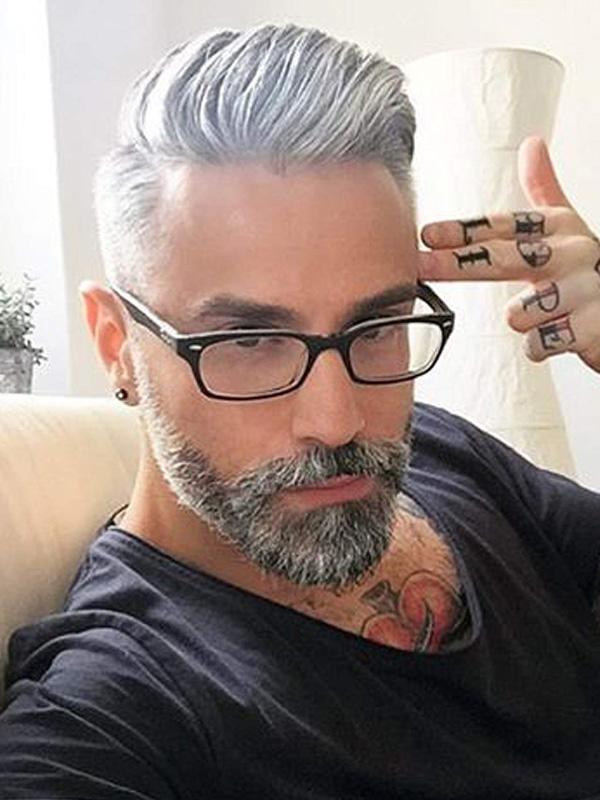 Männer Toupet 10×8 Inch Echthaar Dünne Haut Haarteile