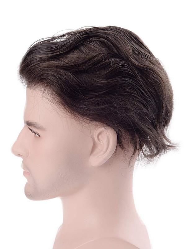 Männer Toupet Echthaar Haarteile