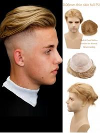"""Männer Toupet Dünne Haut Haarteile 10""""X8"""""""