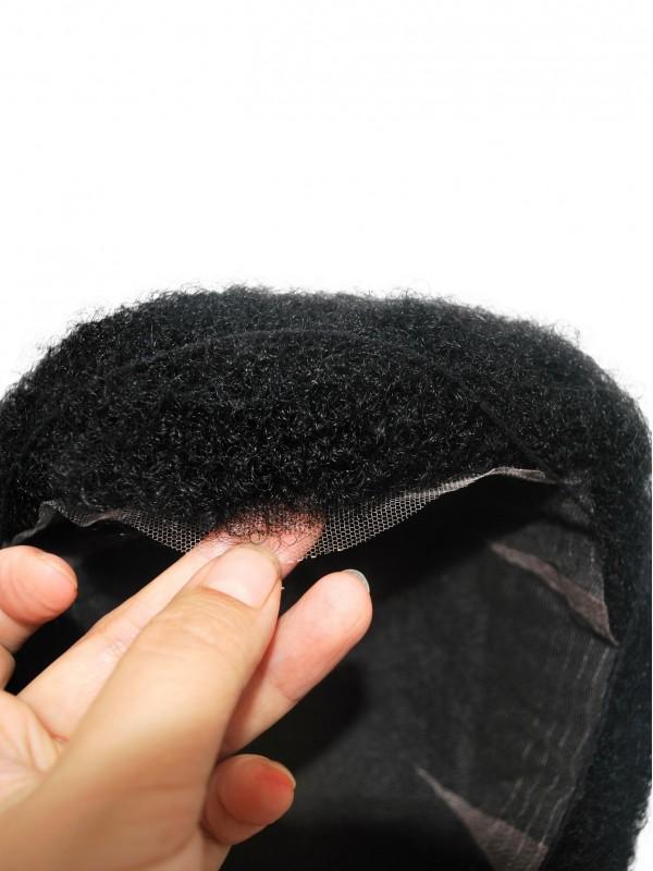 All Lace Schwarz Lockig Haare Piece Für African Männer