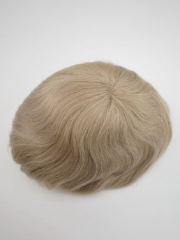 Blond Toupet Für Männer Echthaar