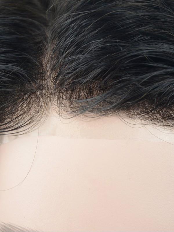 Natürliche Wellig Männer Echthaar Haarteile With 8×10 Inch