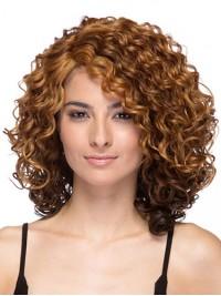 Afro-Hair Mittel Lockig Braun Perücken