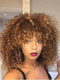 Afro-Hair Lang Lockig Perücken