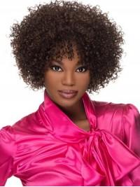 Afro-Hair Lockig Mittel Braun Perücken