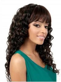 Afro-Hair Braun Lang Lockig Perücken