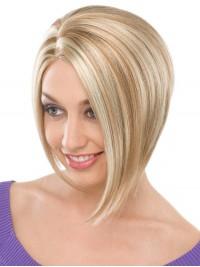 Kurz Gerade Blond Perücken