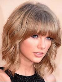 Taylor Swift Mittel Bob Wellig Echthaar Perücken