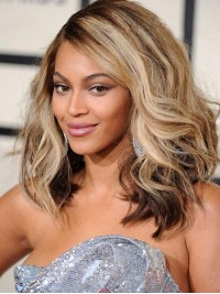 Beyonce Lang Wellig Spitzefront Perücken