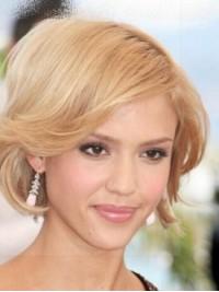 Jessica Alba Kurz Blond Gerade Perücken
