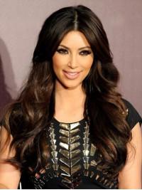 Kim Kardashian Lang Wellig Echthaar Perücken