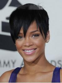 Rihanna Gerade Kurz Spitzefront Perücken