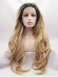 Wellig Blond Spitzefront Perücken