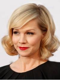 Blond Mittel Spitzefront Perücken