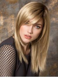 Blond Lang Gerade Spitzefront Perücken