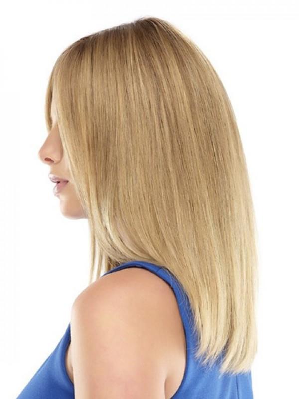 Lang Gerade Blond Spitzefront Perücken