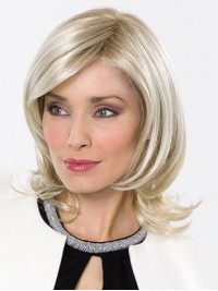 Kurz Blond Spitzefront Perücken