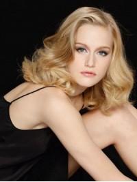 Blond Wellig Spitzefront Perücken