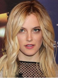 Lang Blond Wellig Spitzefront Perücken
