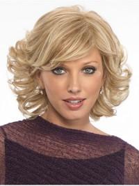 Kurz Wellig Blond Perücken