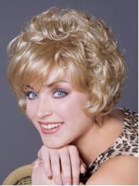 Kurz Blond Lockig Perücken