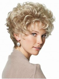 Blond Kurz Wellig Perücken