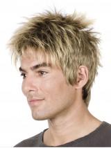 Blond Männer Kurz Gerade Perücken