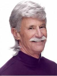 Männer Grau Kurz Gerade Perücken