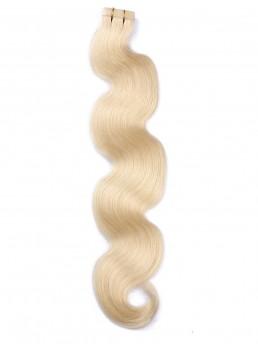 Blond Lange Wellig PU Haarverlängerung