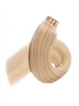 Blond Lange Grade PU Haarverlängerung