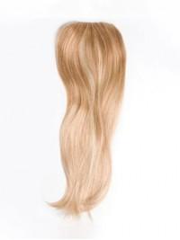 "20"" Gerade Blond Echthaar Mono Haarteile"