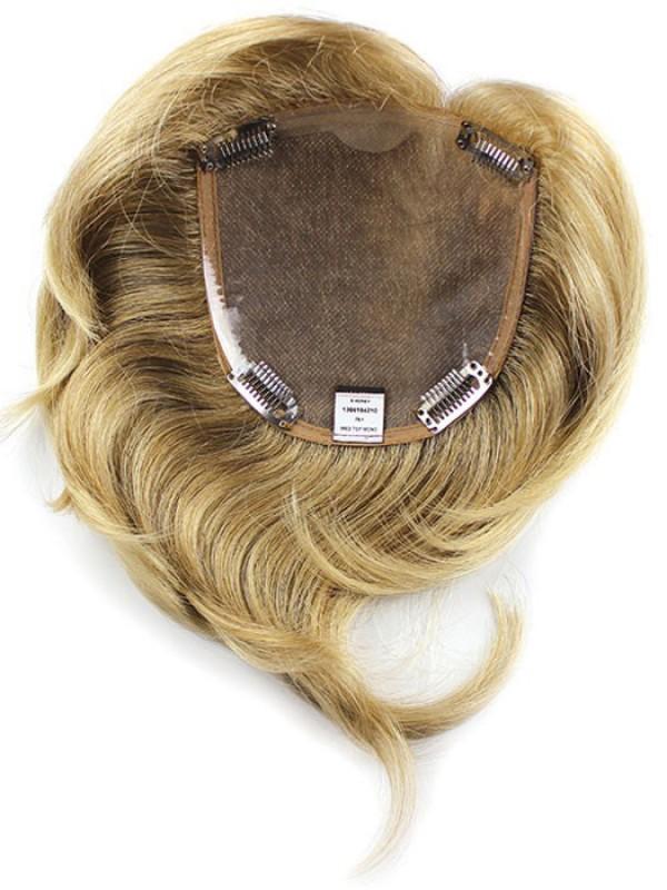 Blond Gerade Echthaar Mono Mittel Haarteile