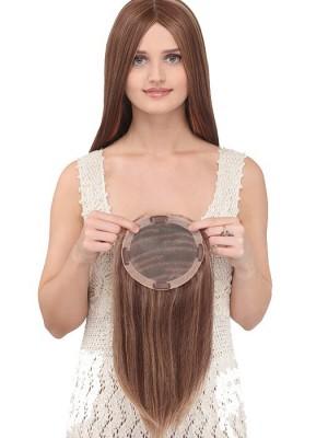 Lang Braun Echthaar Haarteile