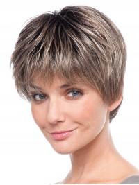 Dunkel Grau Gerade 100% Echthaar Mono Haarteile