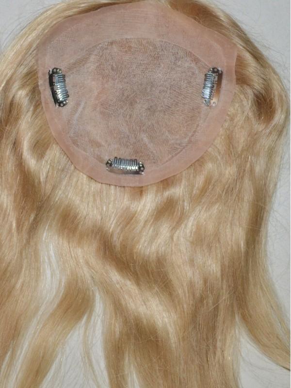 Gerade Echthaar Mono Haarteile