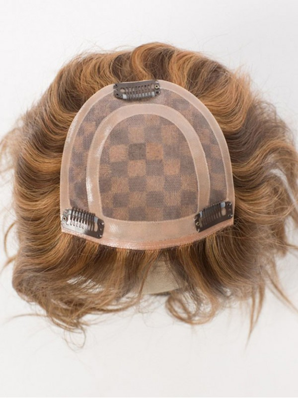 100% Echthaar Monofilament Top Haarteile