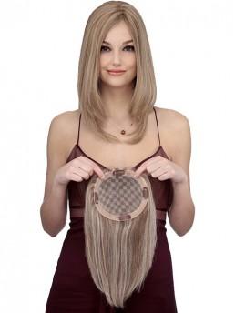 Blond Braun Echthaar Mono Haarteile
