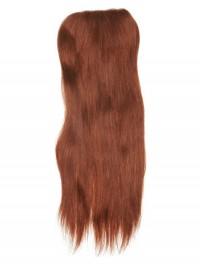 Lang Red Echthaar Haarteile For Ladies