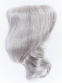 Mittel Silvery Weiß Wellig Haarteile