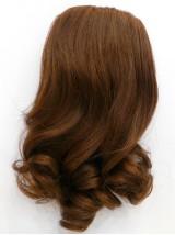 Wellig Braun Echthaar Haarteile