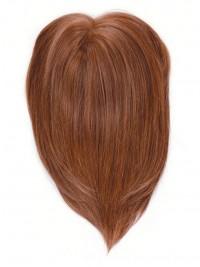 Rotrötlich Gerade Echthaar Hinzufügung Haarteile