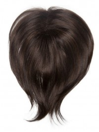 Schwarz Gerade Mittel Echthaar Haarteile