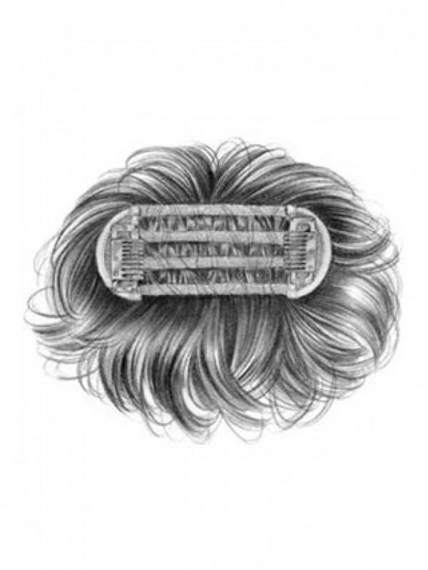 Kurz Gerade Blond Echthaar Kappenlos Haarteile