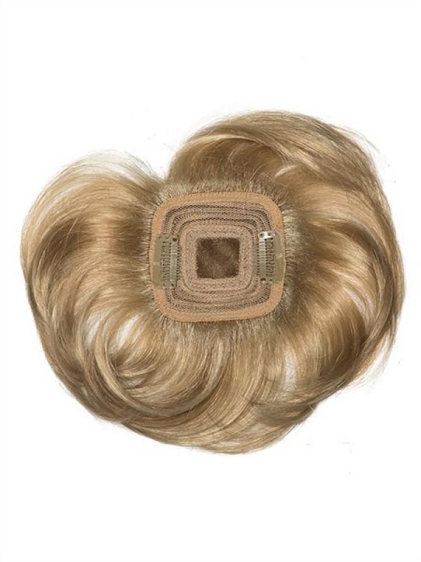 Kurz Wellig Braun 100% Echthaar Lace Haarteile